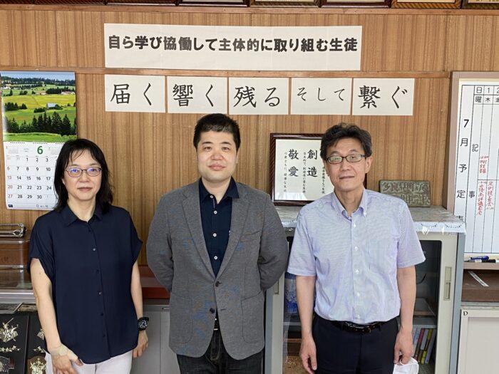 左が企画された早田先生。右が平間校長先生。